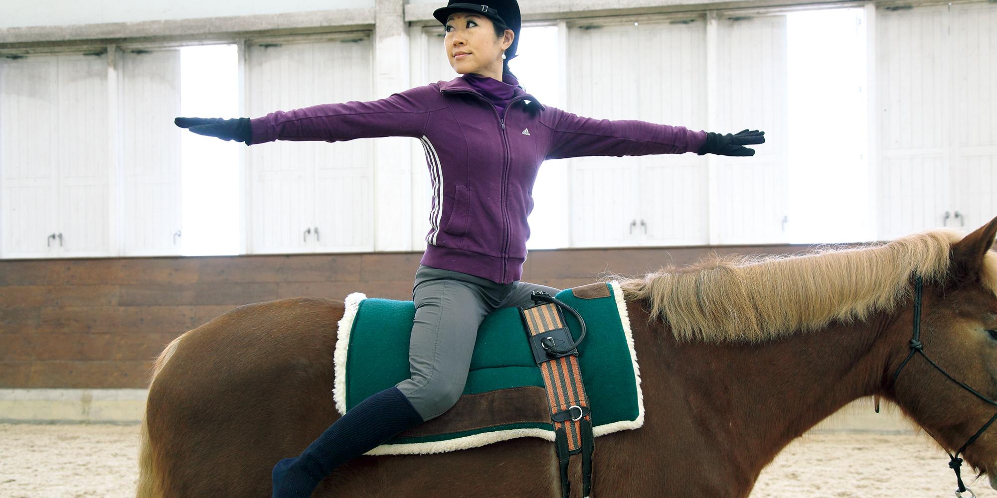 吉江理加先生の「乗馬と美ボディに効く、自宅YOGA」